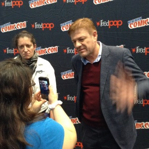 Me Interviewing Sean Bean