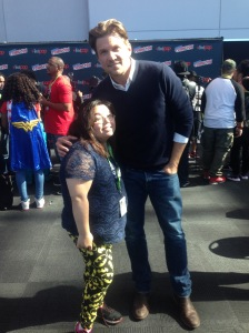 Me with Marc Blucas from the cast Underground backstage at NYCC