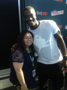 Me with Aldis Hodge from the cast of Underground